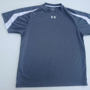 Under Armour Men's Grey Shirt Medium